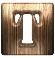 Wooden figure t vector