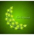 Moon for muslim community festival eid mubarak vector
