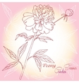Background with one pink peony vector