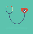 Stethoscope heart checking vector