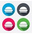 Hamburger sign icon fast food symbol vector
