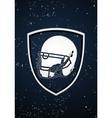 American football badge vector