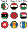 World flags north africa vector