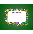 Back to school speech bubble background and vector