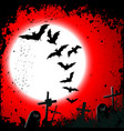 Halloween background - destroyed cemetery in full vector