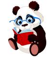Cute panda education vector
