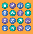 Flat icons of creativity and imagination vector