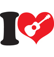 I love uke vector