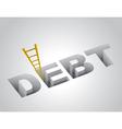 Climbing out of debt vector