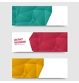 Abstract background origami polygon vector