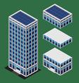 Isometric modern building vector