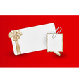 Greeting card and speak bubble vector