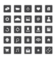 Black and white website icons set vector