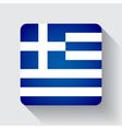Web button with flag of greece vector