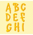 Honey alphabet letters set vector