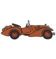 Vintage sports car vector