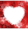 Christmas frame in the shape of heart eps 8 vector
