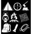 Camping materials vector