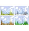 Landscape in four seasons vector