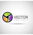 Abstract 3d sphere logos carving set logo spheres vector