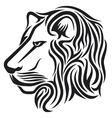Lion head tribal tattoo vector