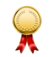 Award medal rosette label vector