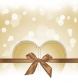 Golden hearts gift on magical background vector