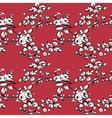 Rose seamless pattern red black white vector