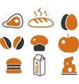 Cartoon food signs vector