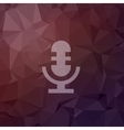 Retro microphone in flat style icon vector