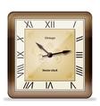 Vintage wall clock vector