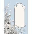 Art deco frame botanical composition vector