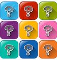 Question mark icons vector
