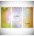 Set of vertical banners abstract multicolored vector