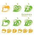 Leaves symbol set vector