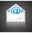 Open envelope with email vector