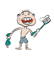 With prepare to brush the teeth vector