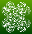 Four leaf clover made from small clover symbols vector