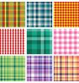 Checkered print vector
