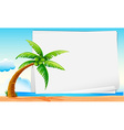 Banner with beach vector