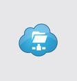 Blue cloud net folder icon vector
