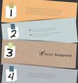 Paper number step banner vector