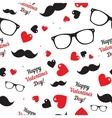 Hipster symbols valentines day background vector