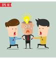 Cartoon business man snatching idea - - eps1 vector