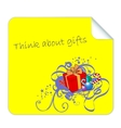 Post it for christmas gifts vector