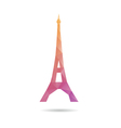Eiffel tower abstract isolated vector