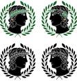 Profile of greek men vector