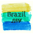 With watercolor elements dedicated to brazil vector