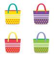 Set of colorful handbags vector