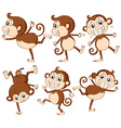 Monkey set vector